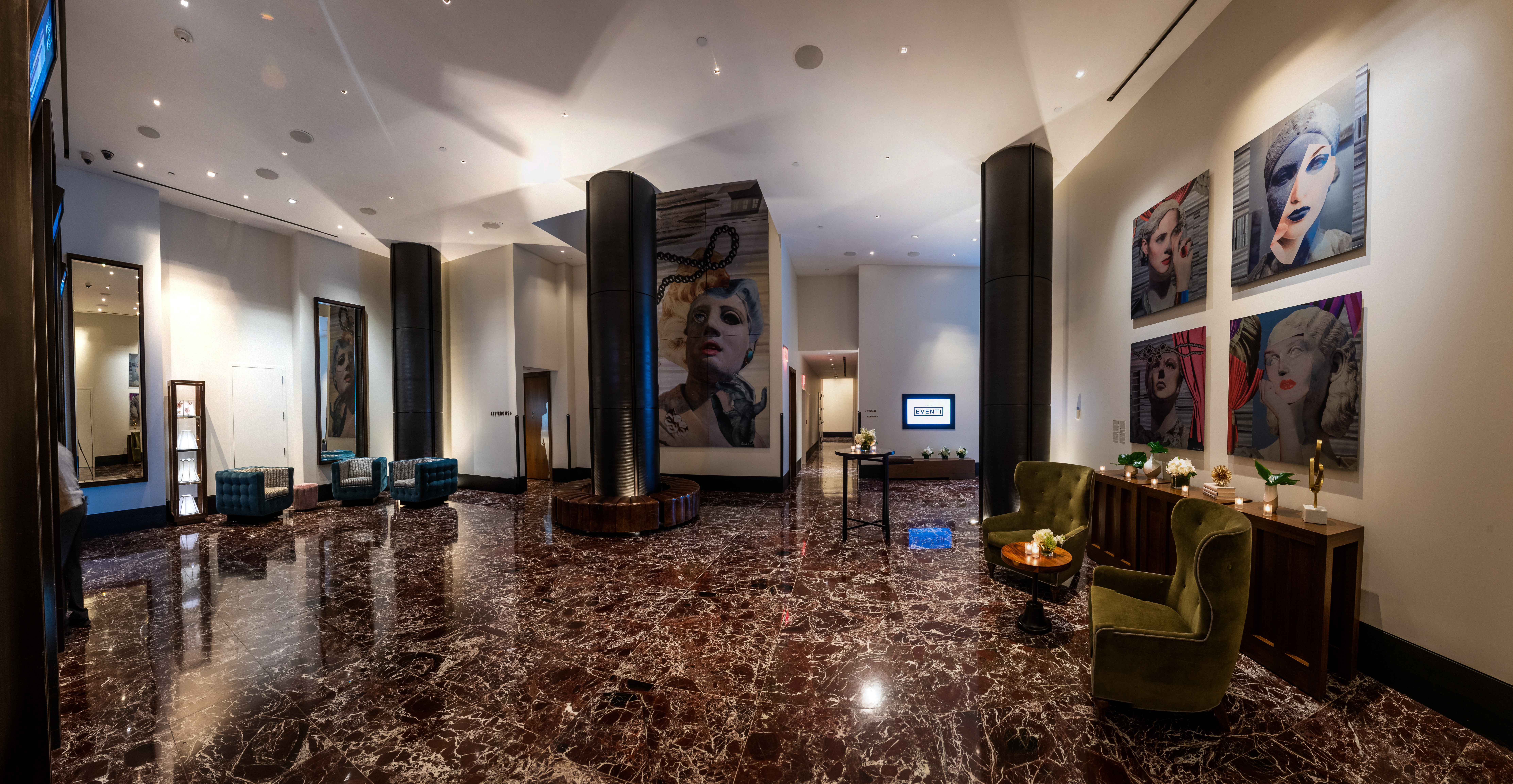 The Kimpton Hotel Eventi has 16 meeting rooms and event spaces.