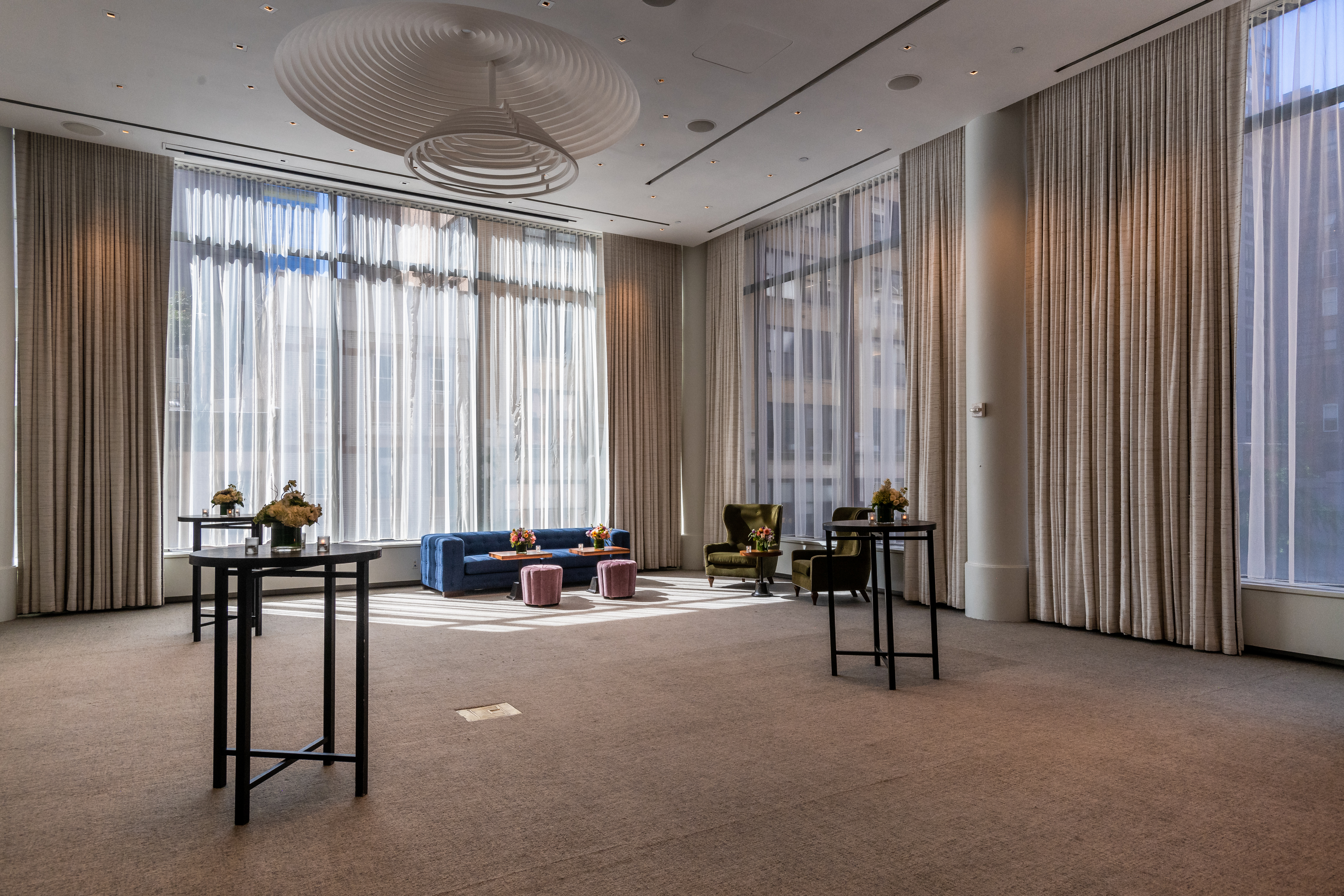 Looking to create a relaxing environment, designer Reza Nouranian took inspiration from the light and natural tones found in the hotel's lobby.
