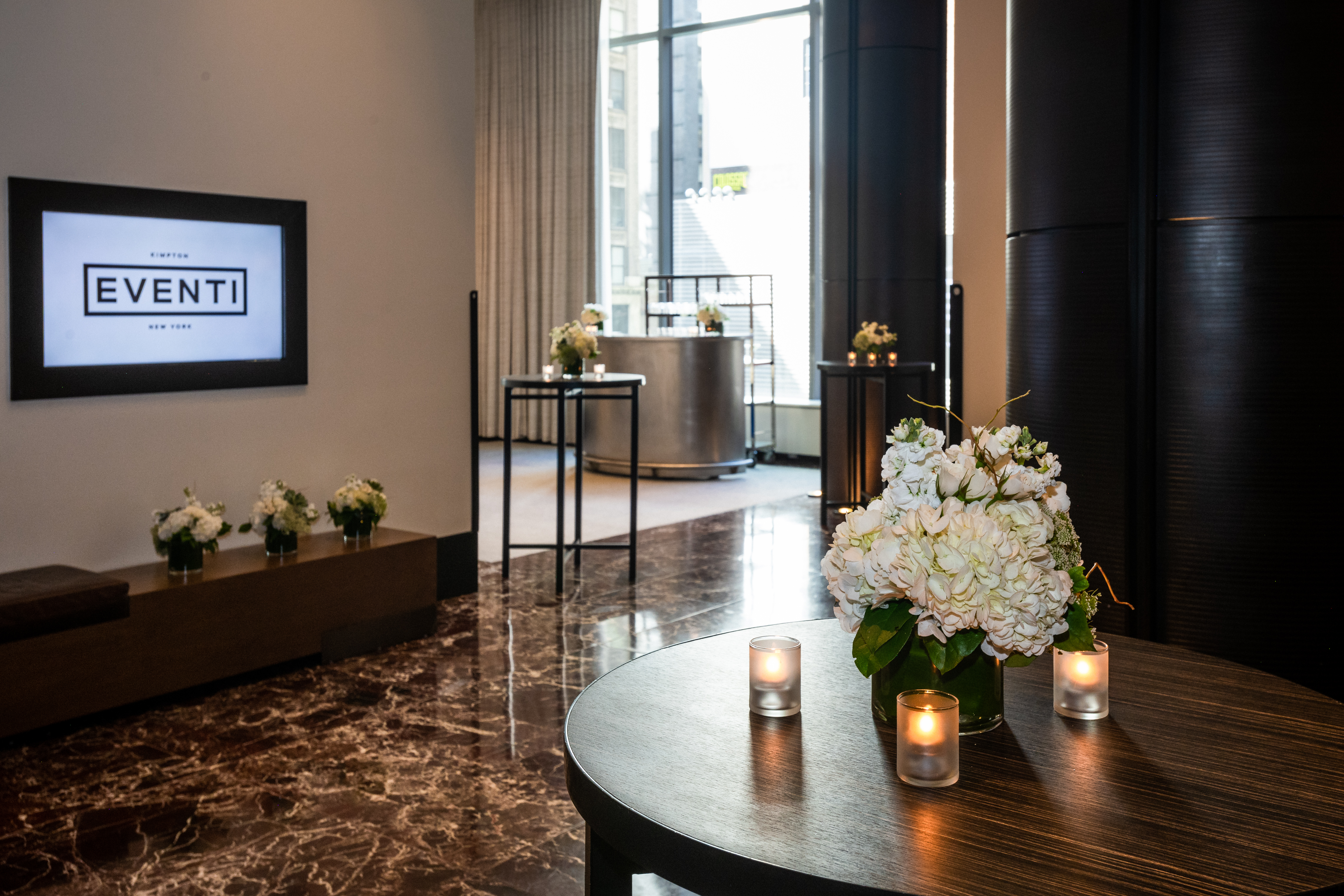 The hotel's event spaces cover a total of 20,458 square feet.