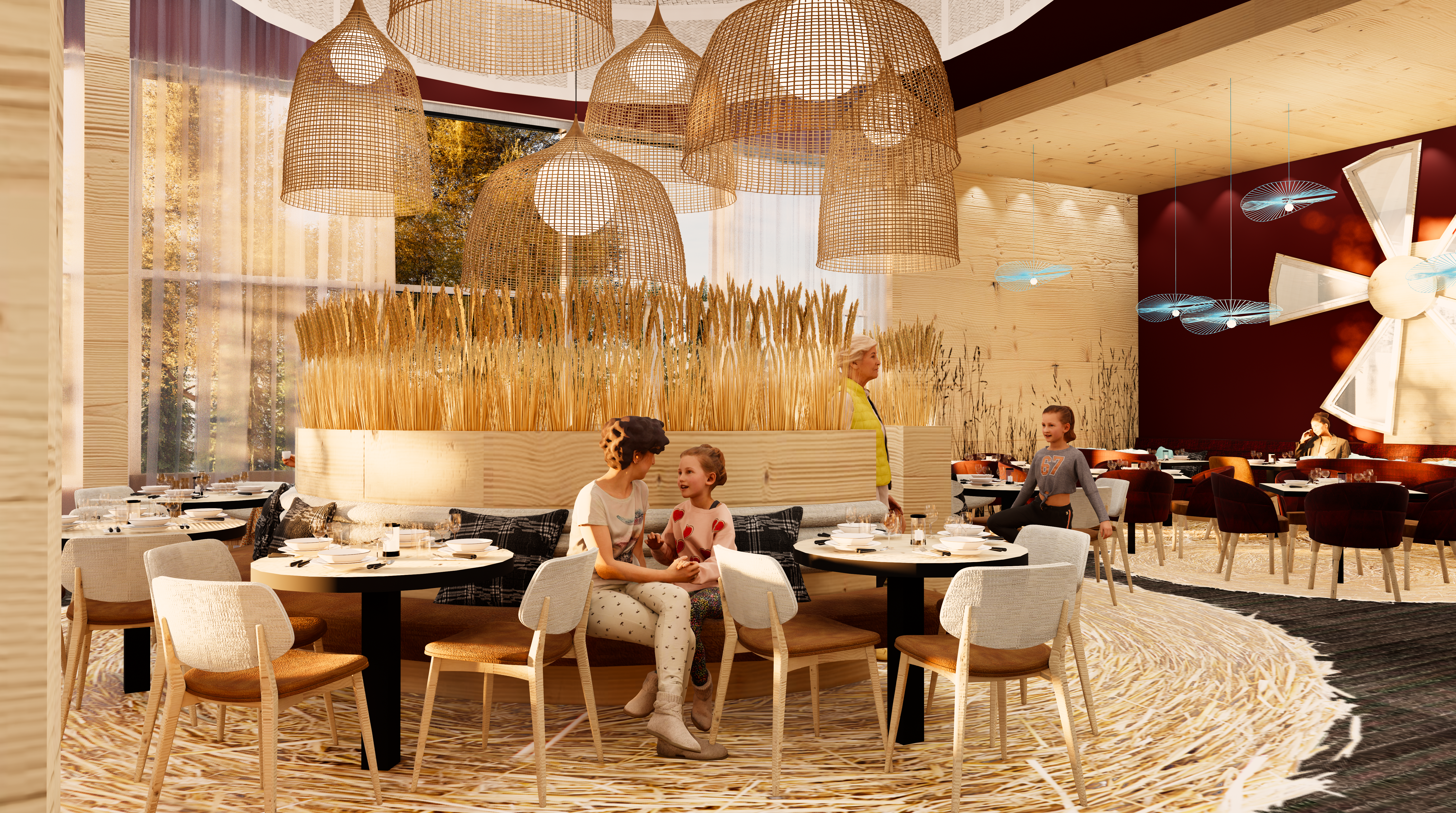 The different dining rooms will evoke the region's natural, maritime and agricultural heritage.