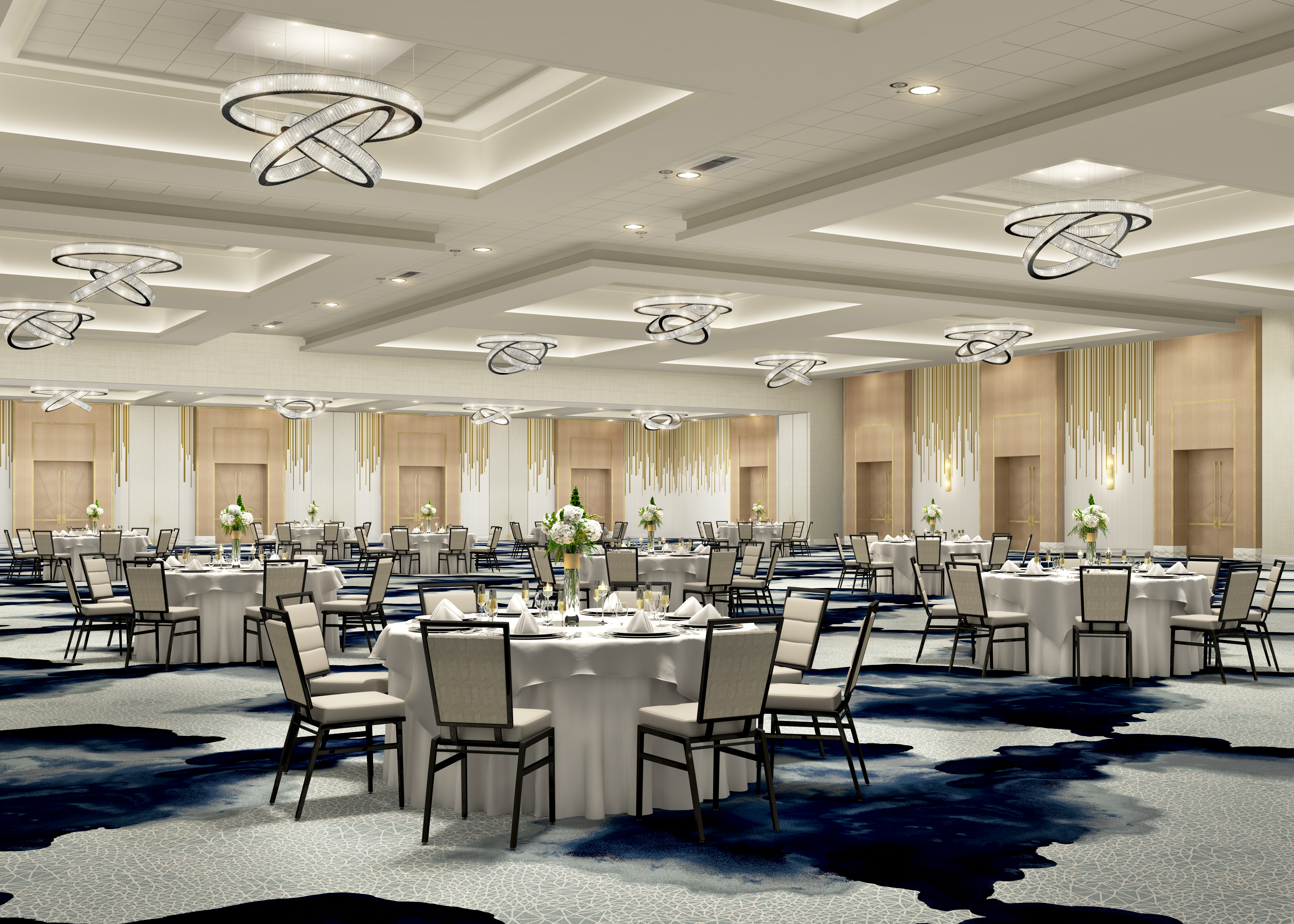 The Sinatra Ballroom is the largest indoor space in the Greater Palm Springs area at 25,000 square feet.