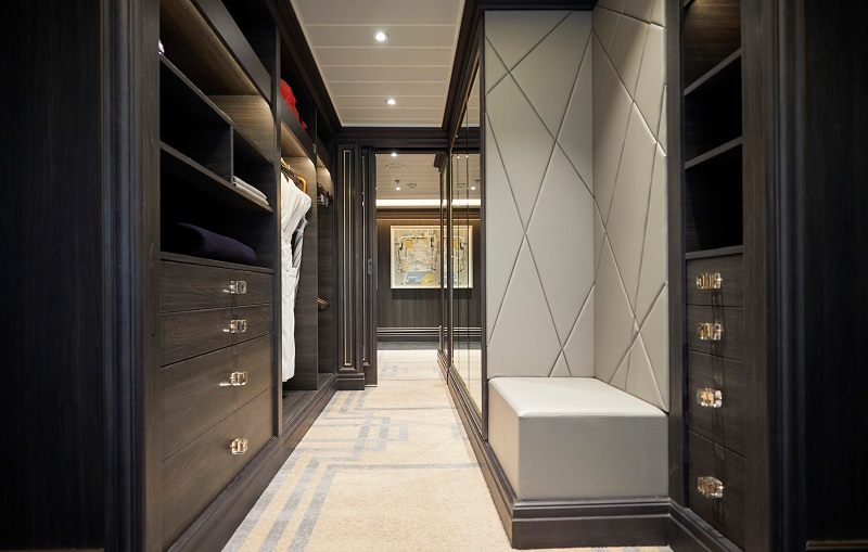 Master bedroom closet of Regent Suite. Photo courtesy of Regent Seven Seas Cruises.