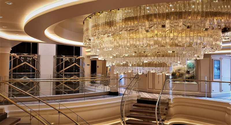 Grand Chandelier in the atrium. Photo by Susan J. Young