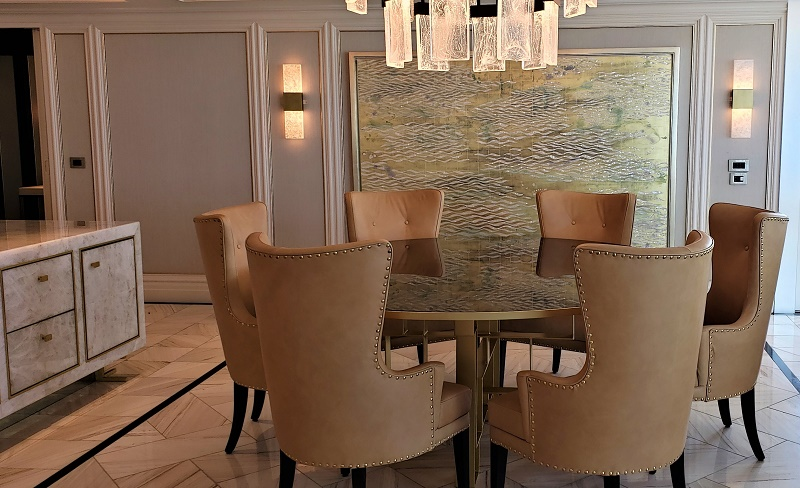 Dining room of Regent Suite. Photo by Susan J. Young