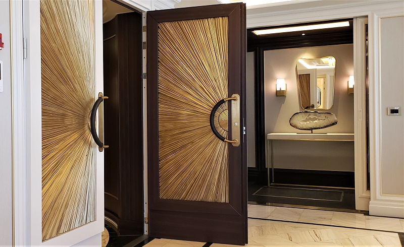 It's all about the detail. Check out this entry door to the Regent Suite. Entry to the suite's master bedroom is in the background. Photo by Susan J. Young