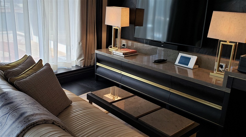 Regent Suite's master bedroom living area. Photo by Susan J. Young