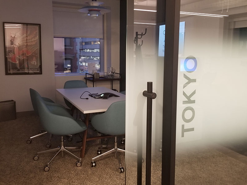 Conference rooms are named for iconic travel destinations