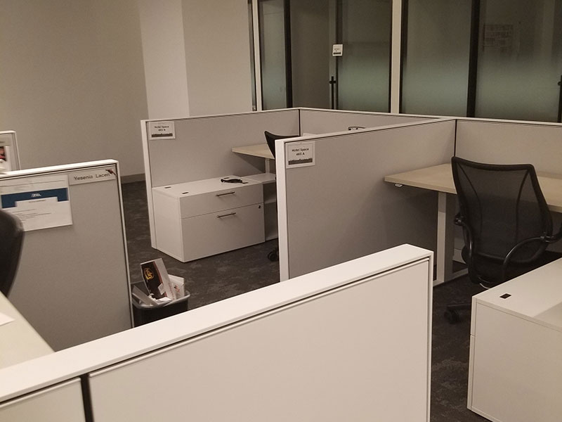 Workspaces are a mix of private and open