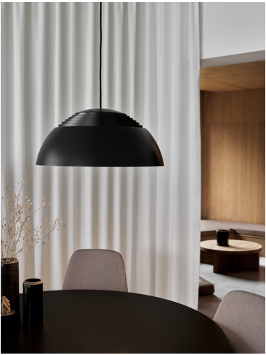 Louis Poulsen is reintroducing the AJ Royal pendant lamp in three sizes and in two colors.