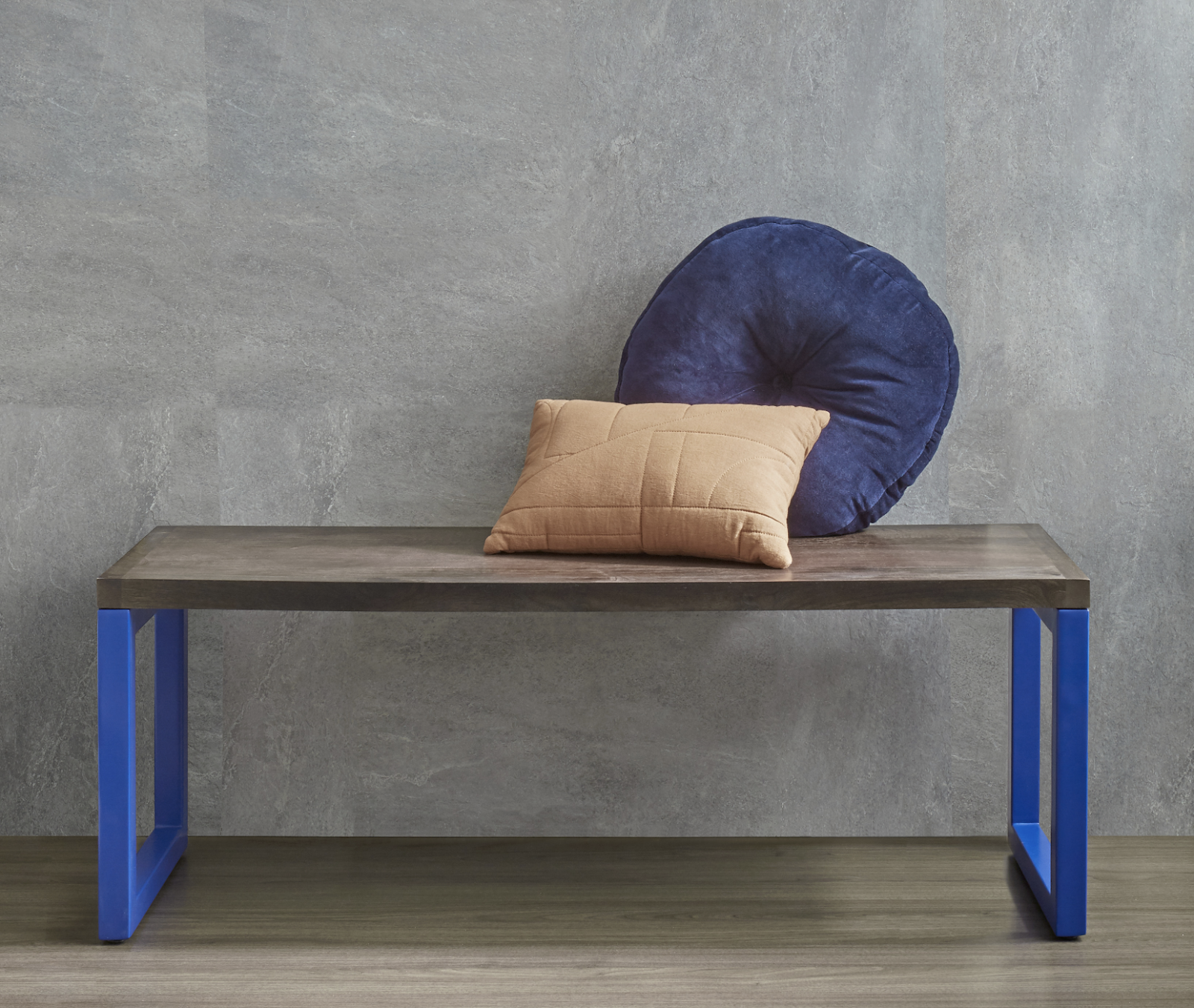 The Porta unit combines two materials into a contemporary bench.