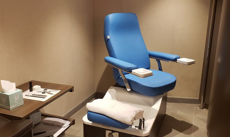 Pedicure chair in Silver Shadow's Zagara Beauty Spa. Photo by Susan J. Young