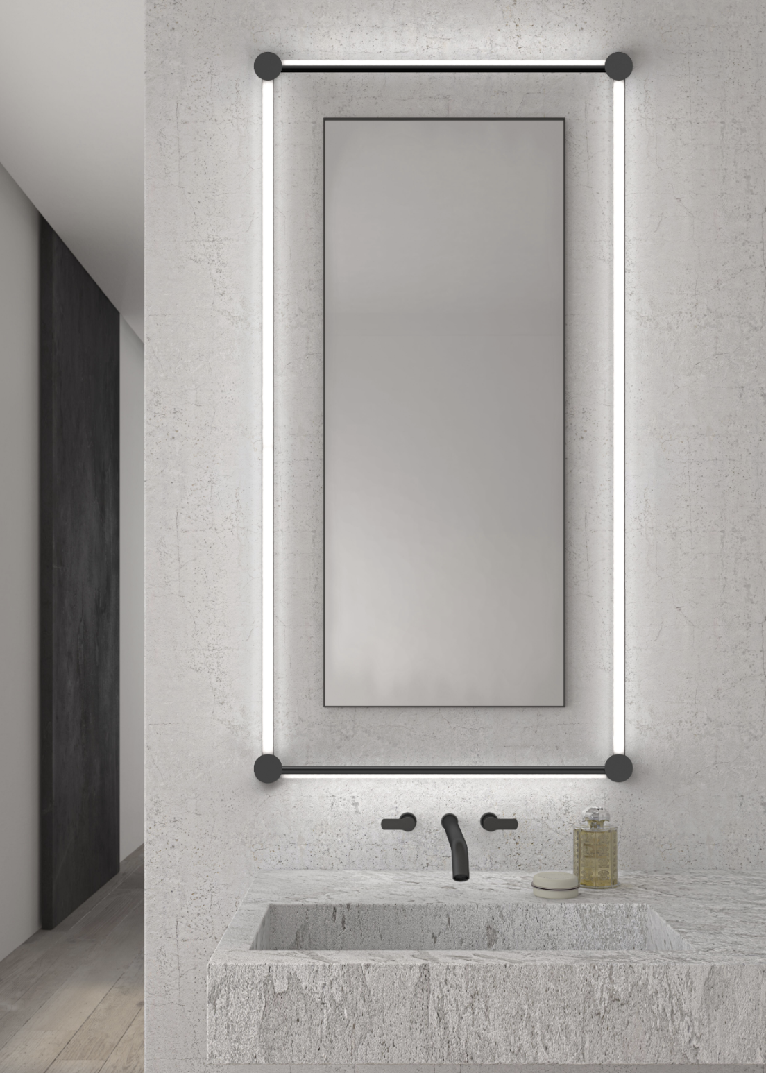 In a bathroom, the rotatable light tubes can be arranged to surround a mirror.