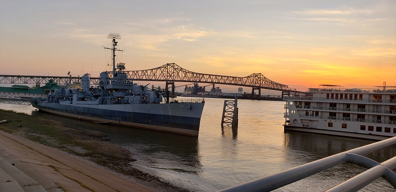 Baton Rouge at sunset. Photo by Susan J. Young