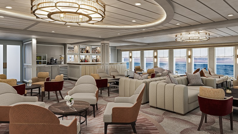 Rendering of River Lounge on American Melody