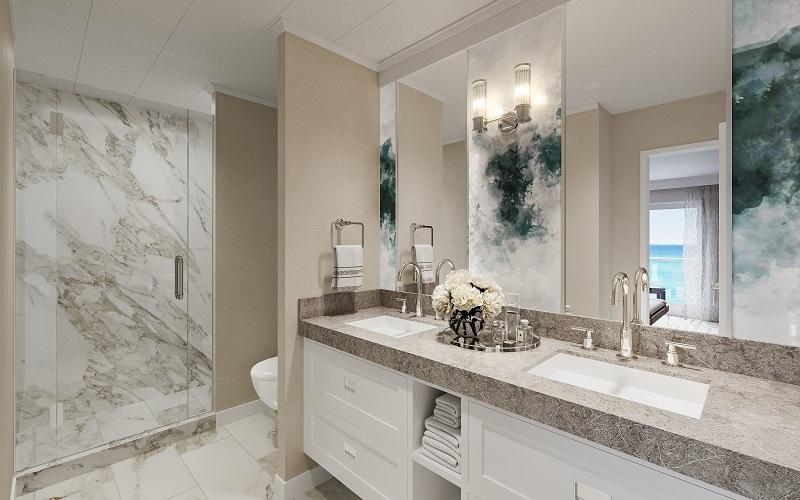Suite bathroom on American Melody