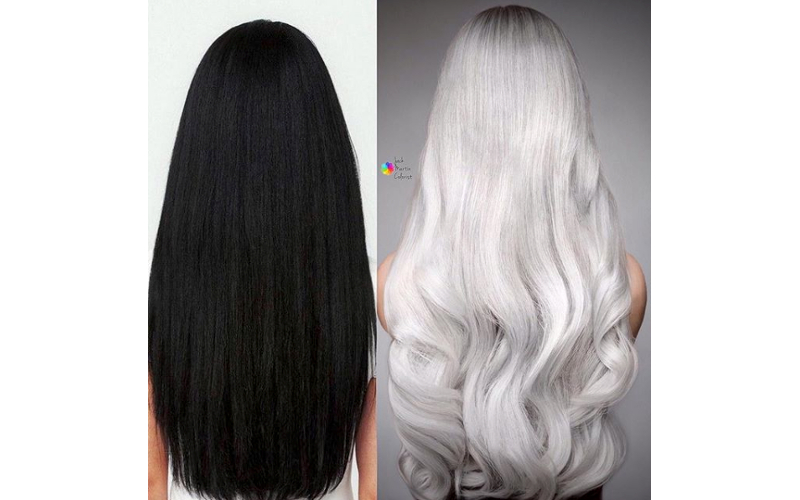 Color How-To: Natural Black To Silver Platinum