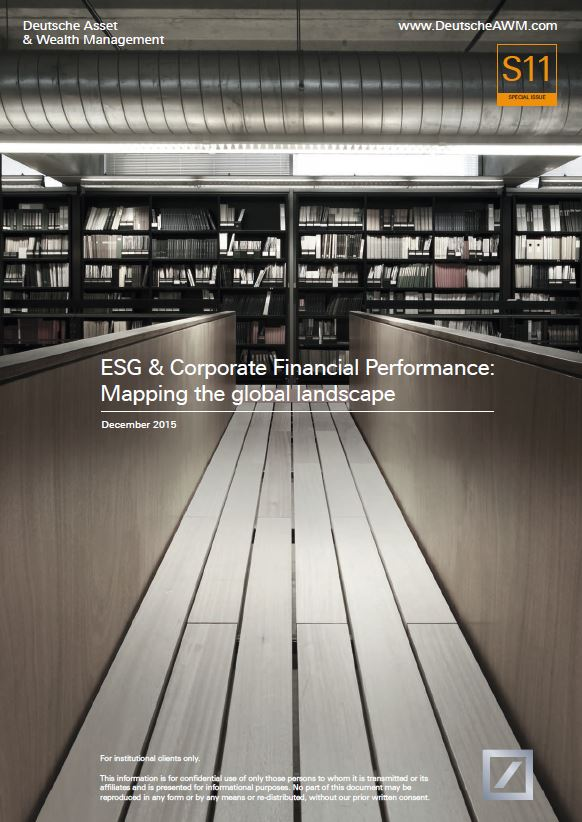 ESG & Corporate Financial Performance: Mapping the Global ...