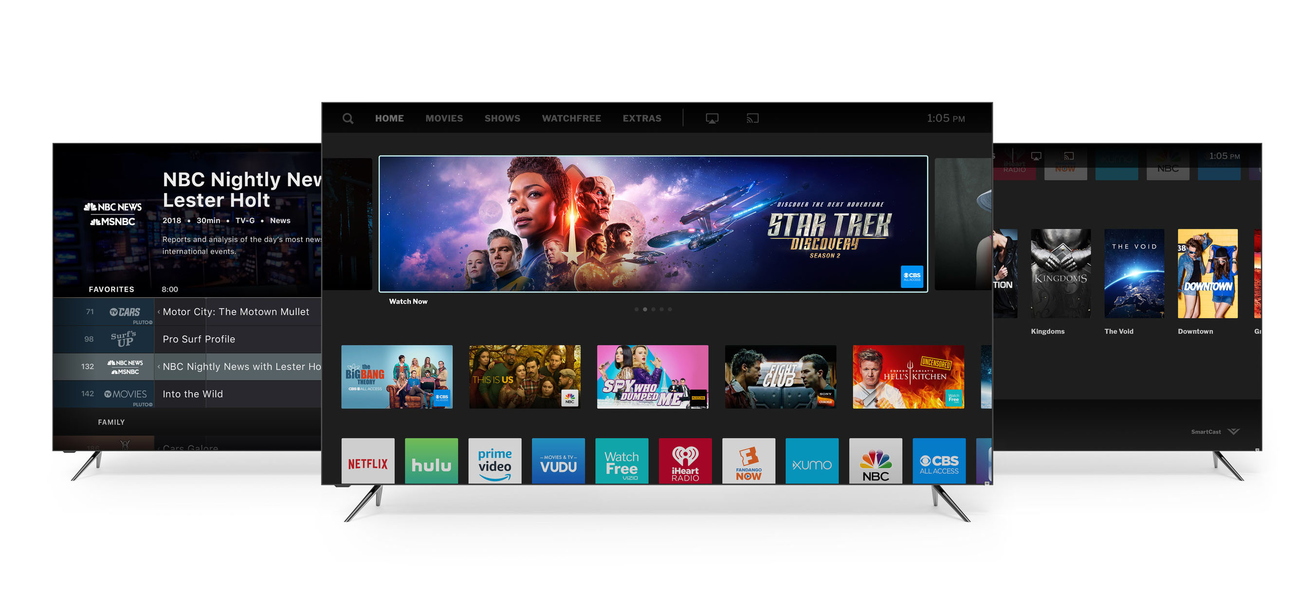 Vizio adds Hulu Live TV, more free channels to SmartCast 3 0