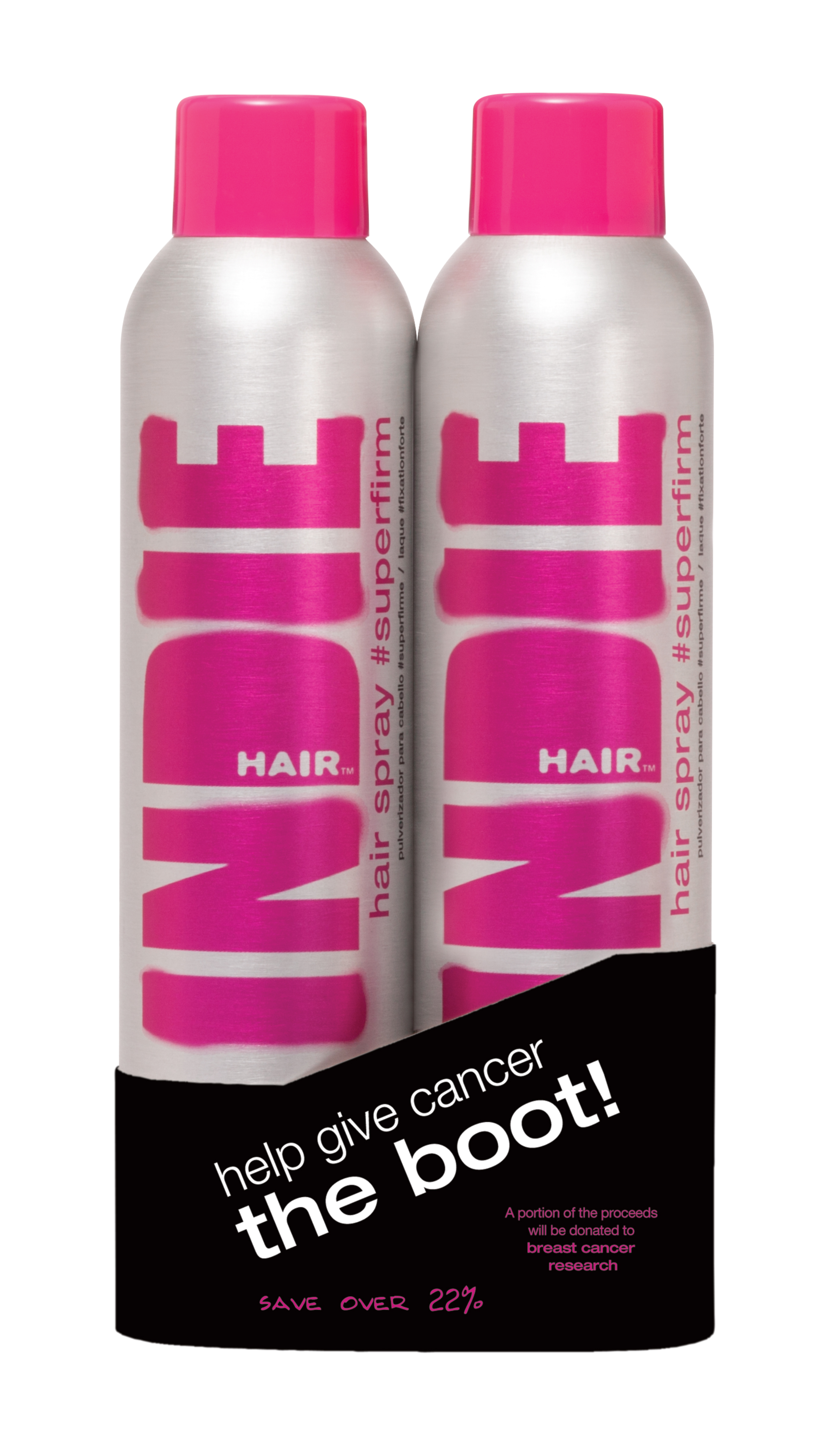 Indie Hair limited-edition duo infused with My Indie Complex to add strength, moisture and shine, will be sold during the months of September and October. A portion of the proceeds will be donated to help breast cancer awareness.