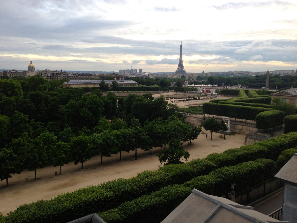 View from hotel room – with the eiffel tower in the background.