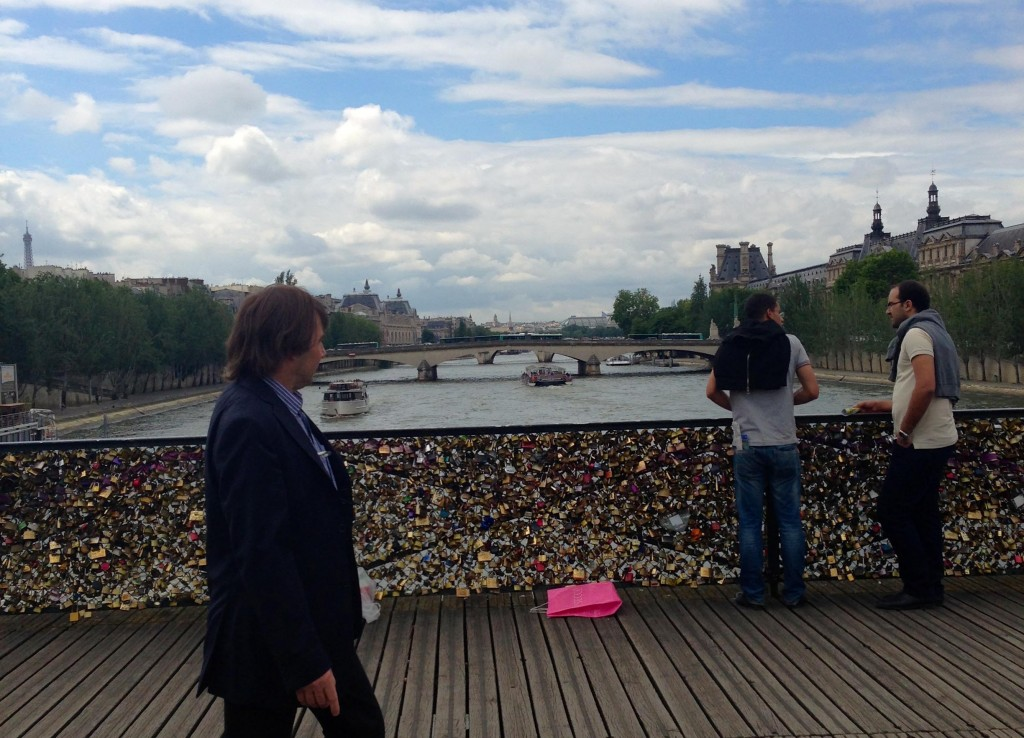 Couples on the World Tour participated in the tradition and renewed their commitment on the bridge by writing their names on a padlock and locking it onto the rail of the bridge.