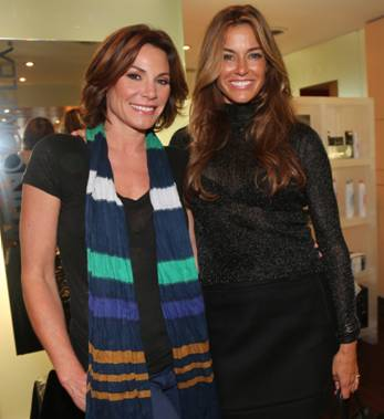 Luanne De Lesseps and Kelly Bensimon attend the Keratin Complex Pop Up Salon on September 9, 2013 in New York City.