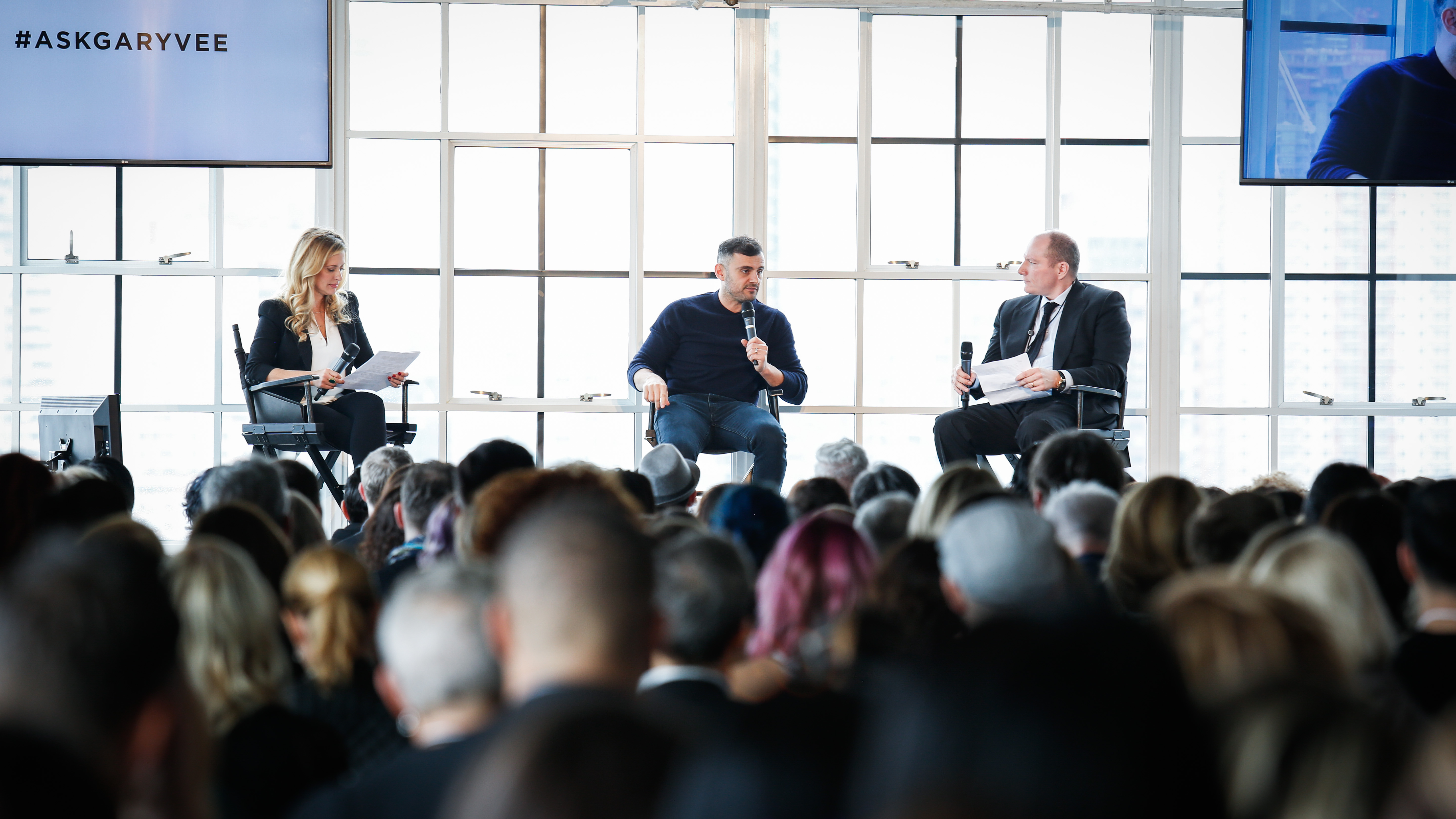 Luxury Brand Partners Vice President of Strategic Projects and Industry Development Lyndsey Bardnell (@hey_ellbee), Keynote Speaker Gary Vaynerchuk (@garyvee) and LBP President and CEO Tev Finger (@tevfinger)