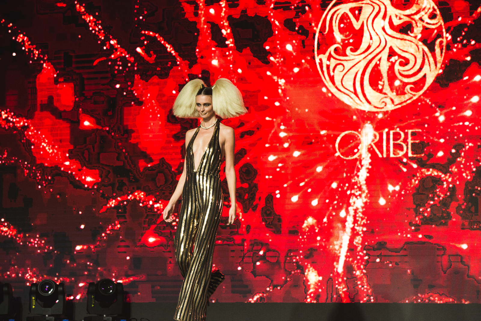 One of the looks that Kien Hoang created for The Blonds S/S 2106 show.