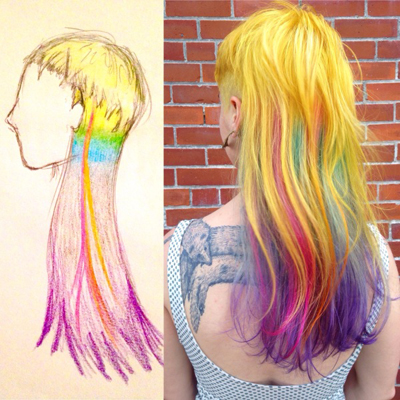 """Rainbow Hair for Equality"" by Meghan Laura"