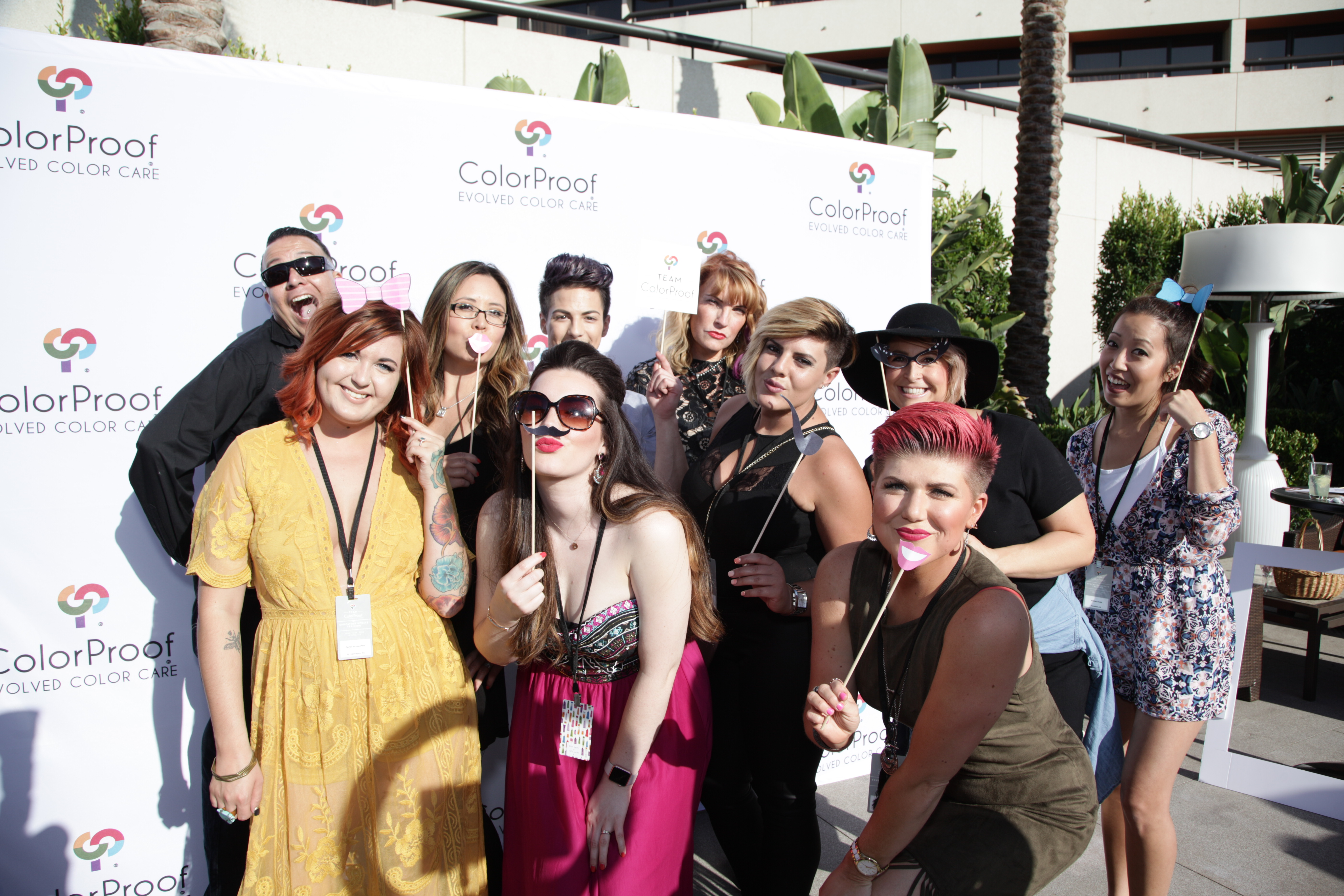 The newest members of the ColorProof Artistic Team in the ColorProof photo booth