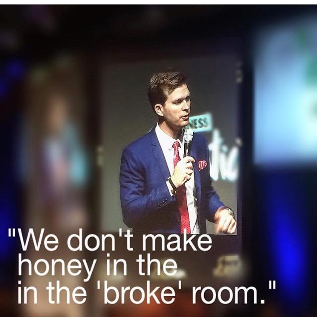Great Instagram of speaker John McCormick by @trvstacademy.