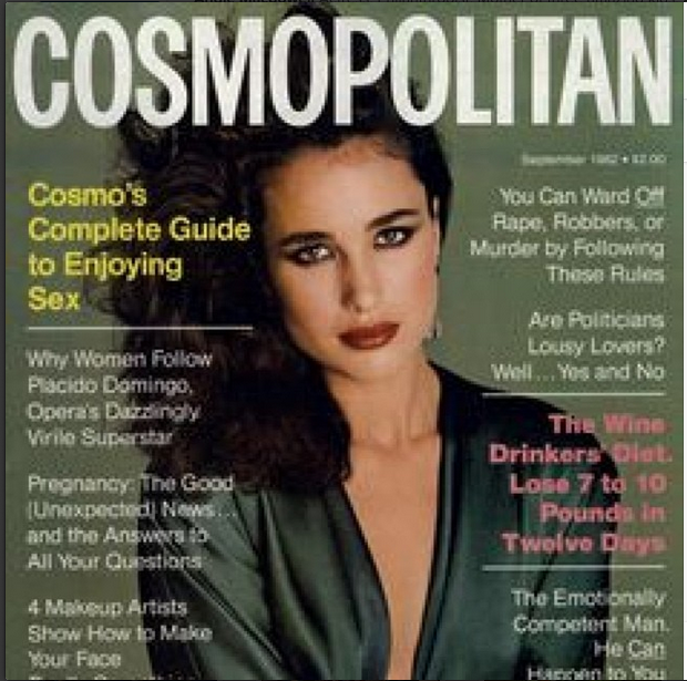 A cover Andie shot for Cosmopolitan in 1982