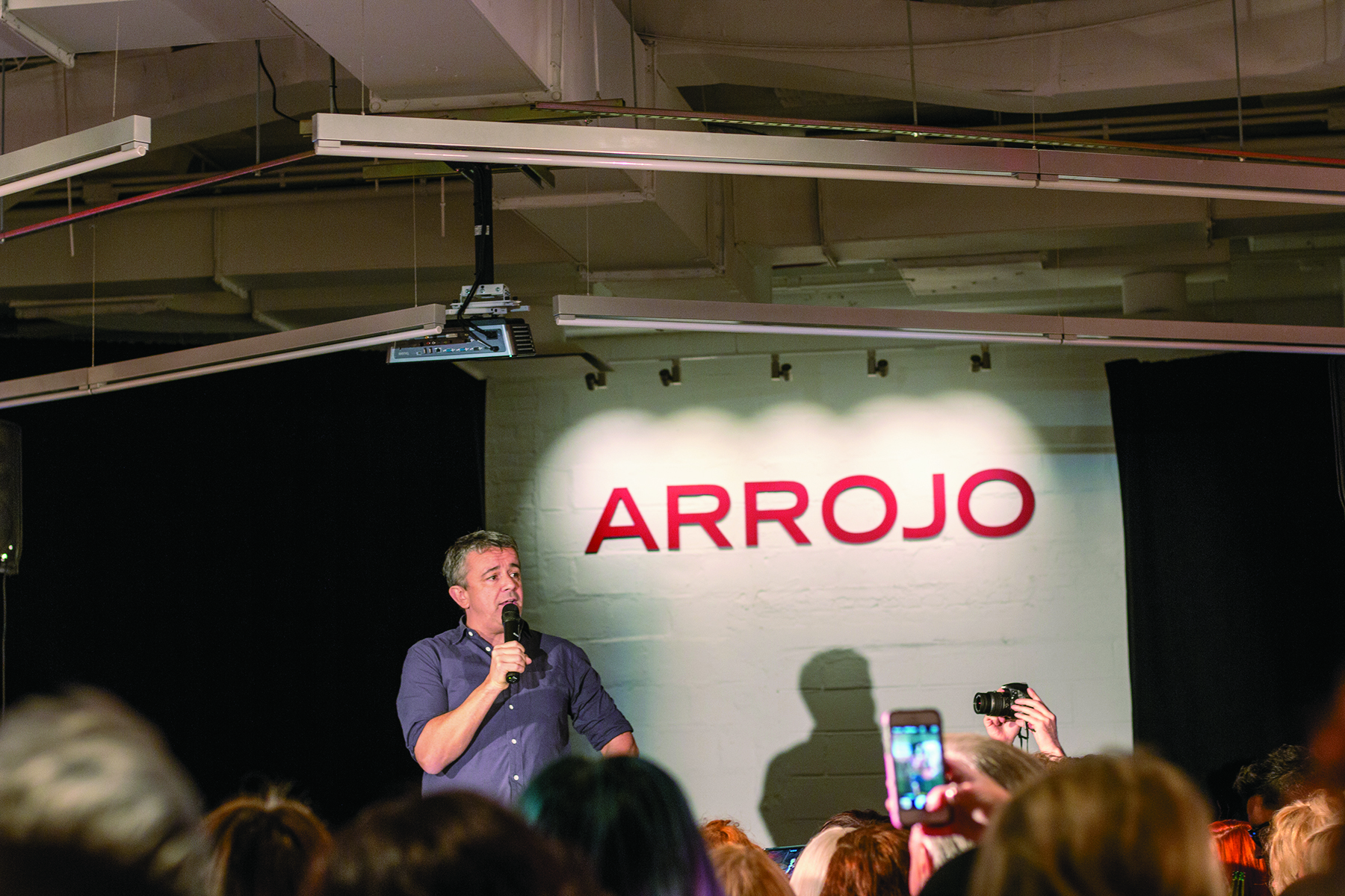 Goldwell hosted an opening night welcome party at Arrojo Studio for Intercoiffure members.