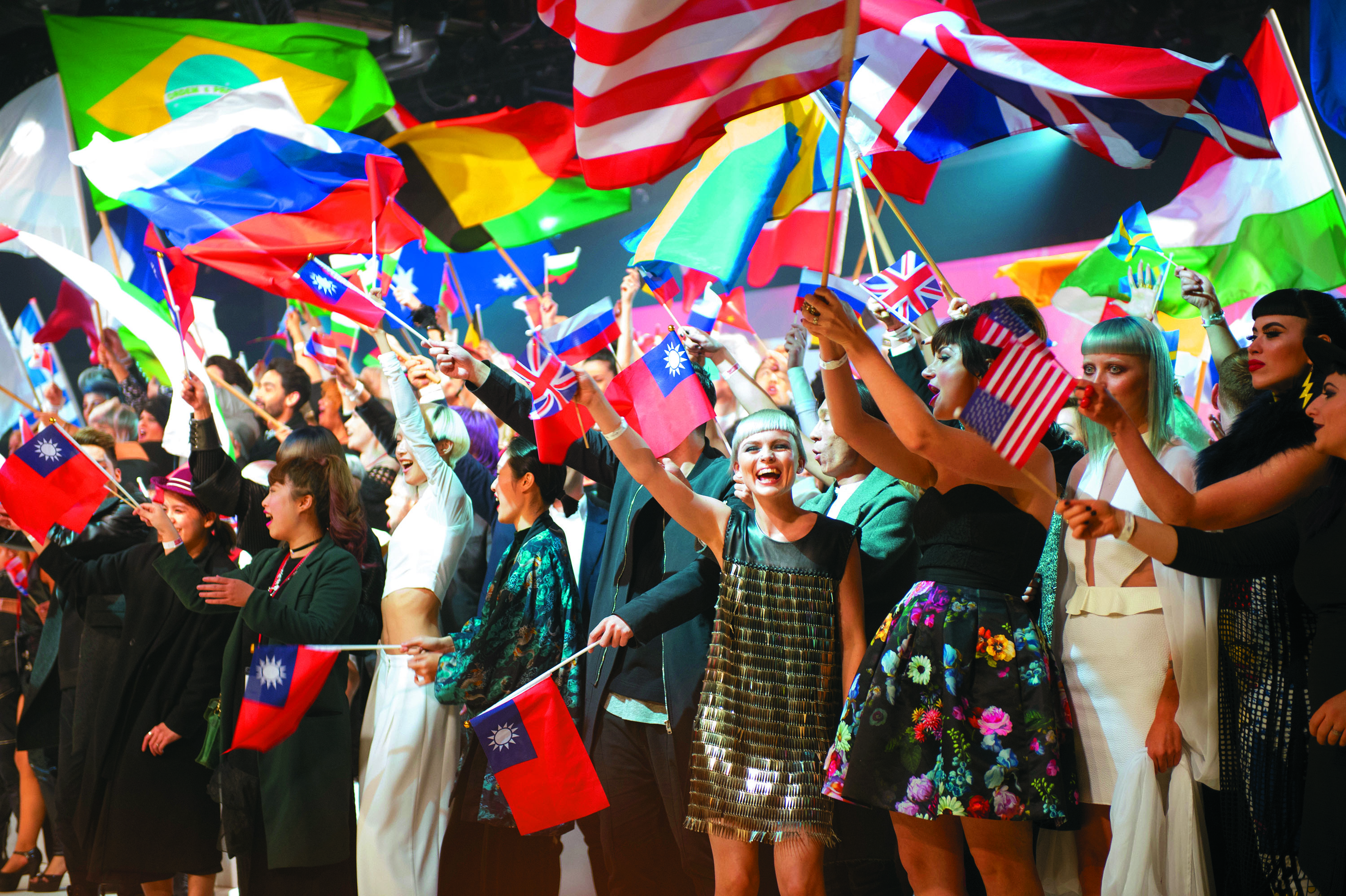 Finalists from 37 countries took part in the parade of nations.
