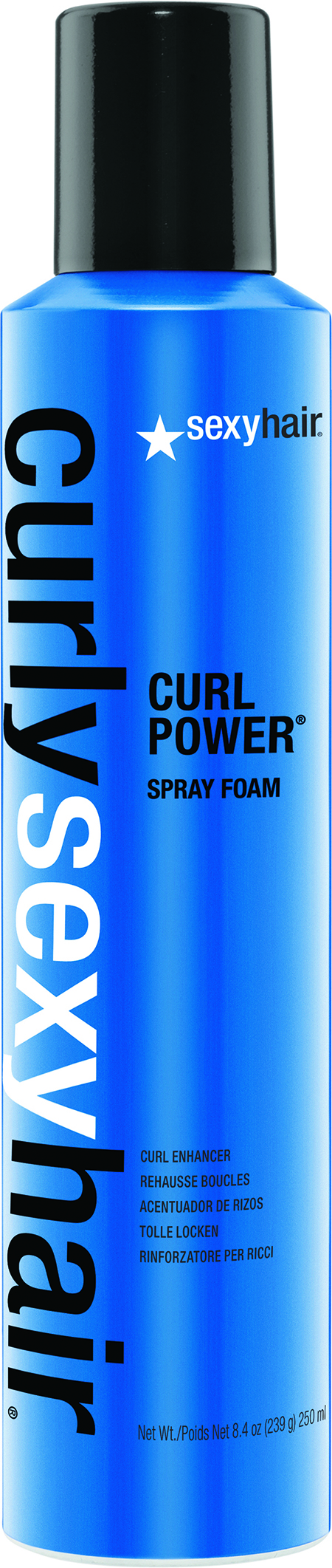 Curl Power Spray Foam moisturizes hair, instantly invigorating curls with added definition.