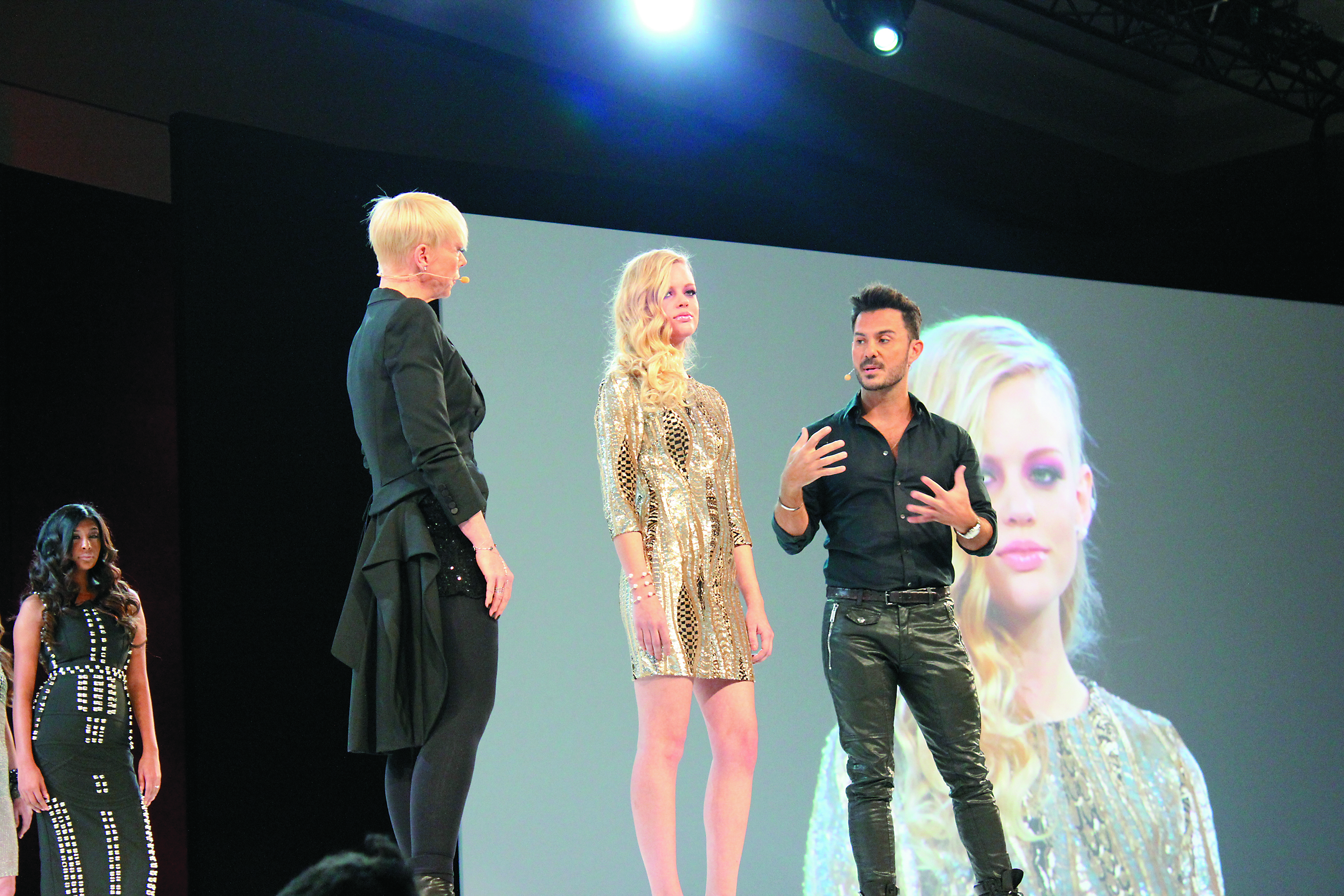 Tabatha Coffey and Matrix celebrity stylist George Papanikolas kicked off the first day of classes with a general session.