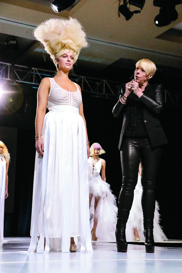 Tabatha Coffey presenting her new collection.