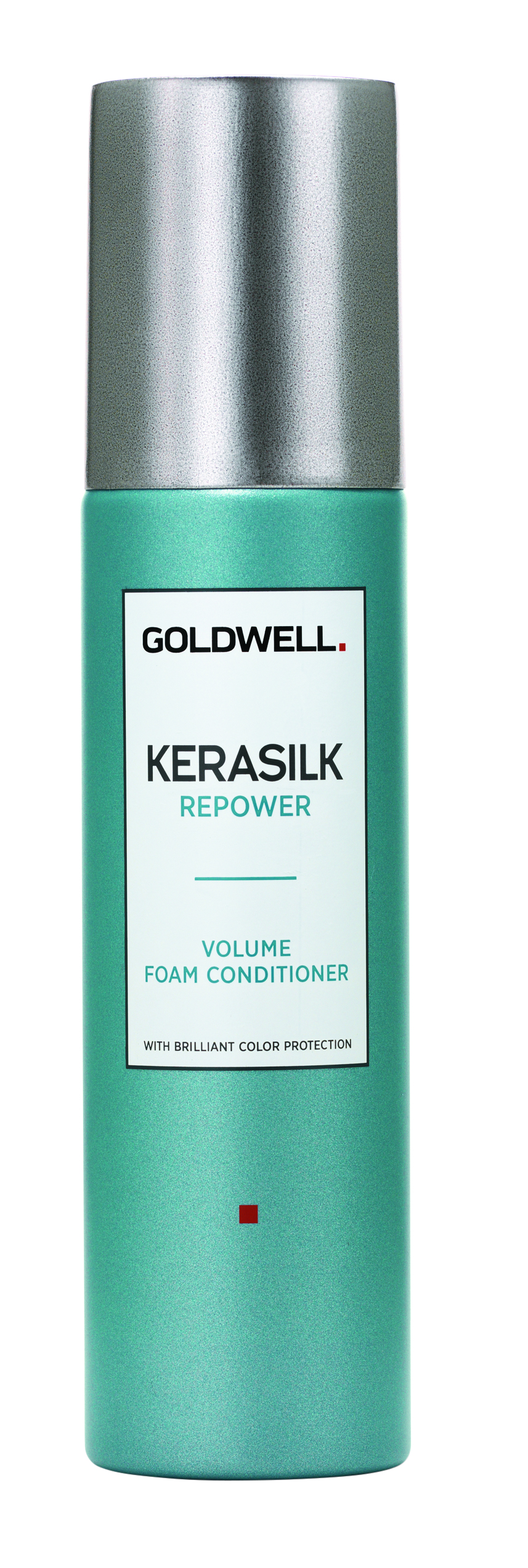 Goldwell  Kerasilk Repower Volume Foam Conditioner is a lightweight aerosol mousse that conditioners without adding weight, enhancing resilience and elasticity.