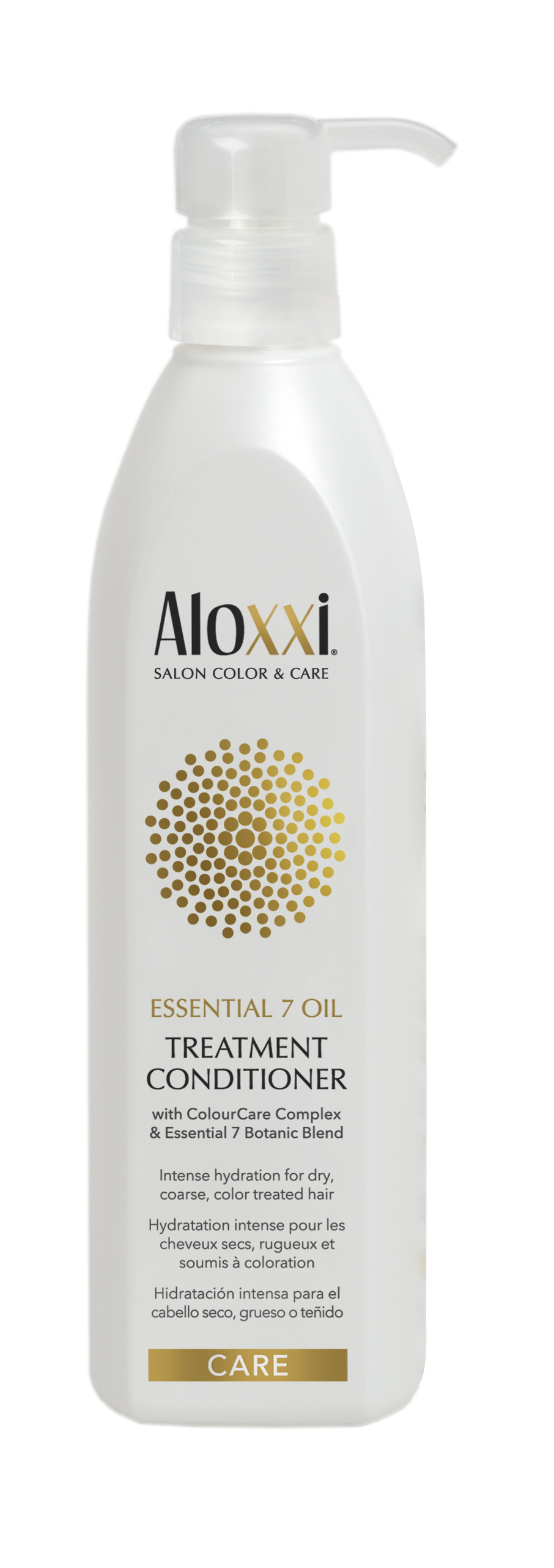 Aloxxi  Essential 7 Oil Care Treatment Conditioner restores vital moisture to the hair with buriti fruit extract while cupuaçu butter fortifies the hair for a silky touch.