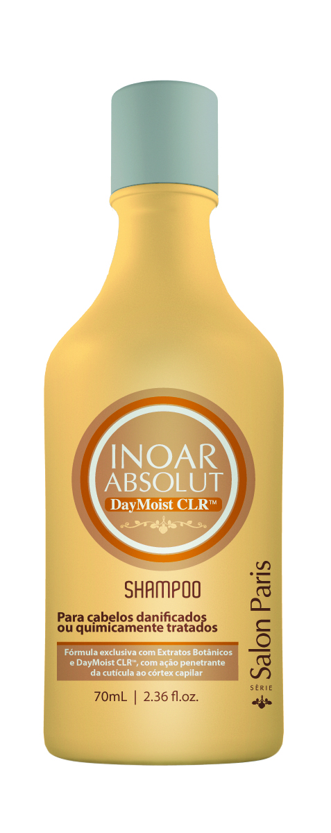 Inoar  Daymoist CLR Shampoo increases hair elasticity, preserves color and shine, protects from de-coloring and prepares the hair for high temperature treatments.