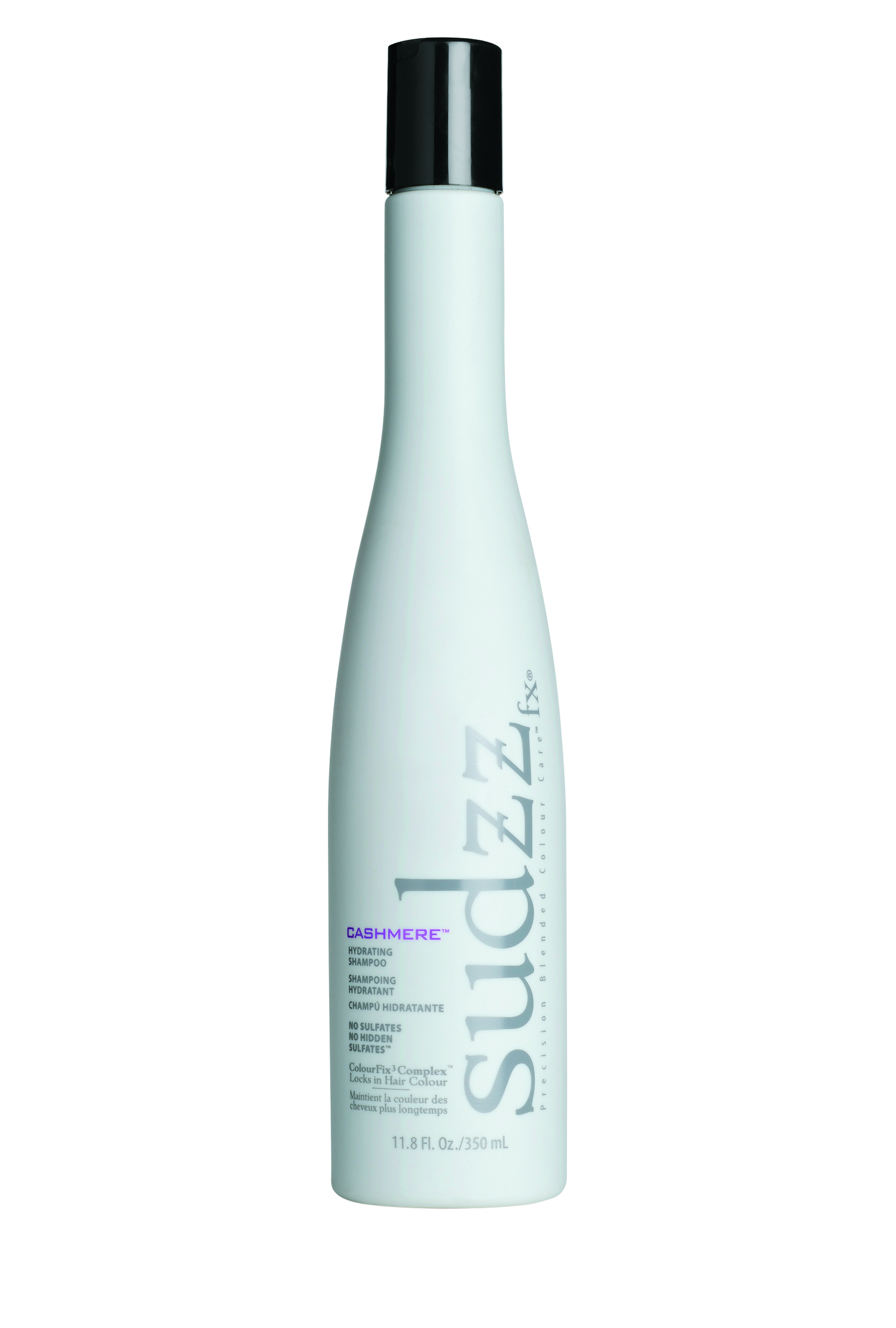 Sudzz fx  Cashmere Hydrating Shampoo delivers a strong dose of moisture while creating shine and silkiness, making even the driest of hair feel like soft, sophisticated cashmere.