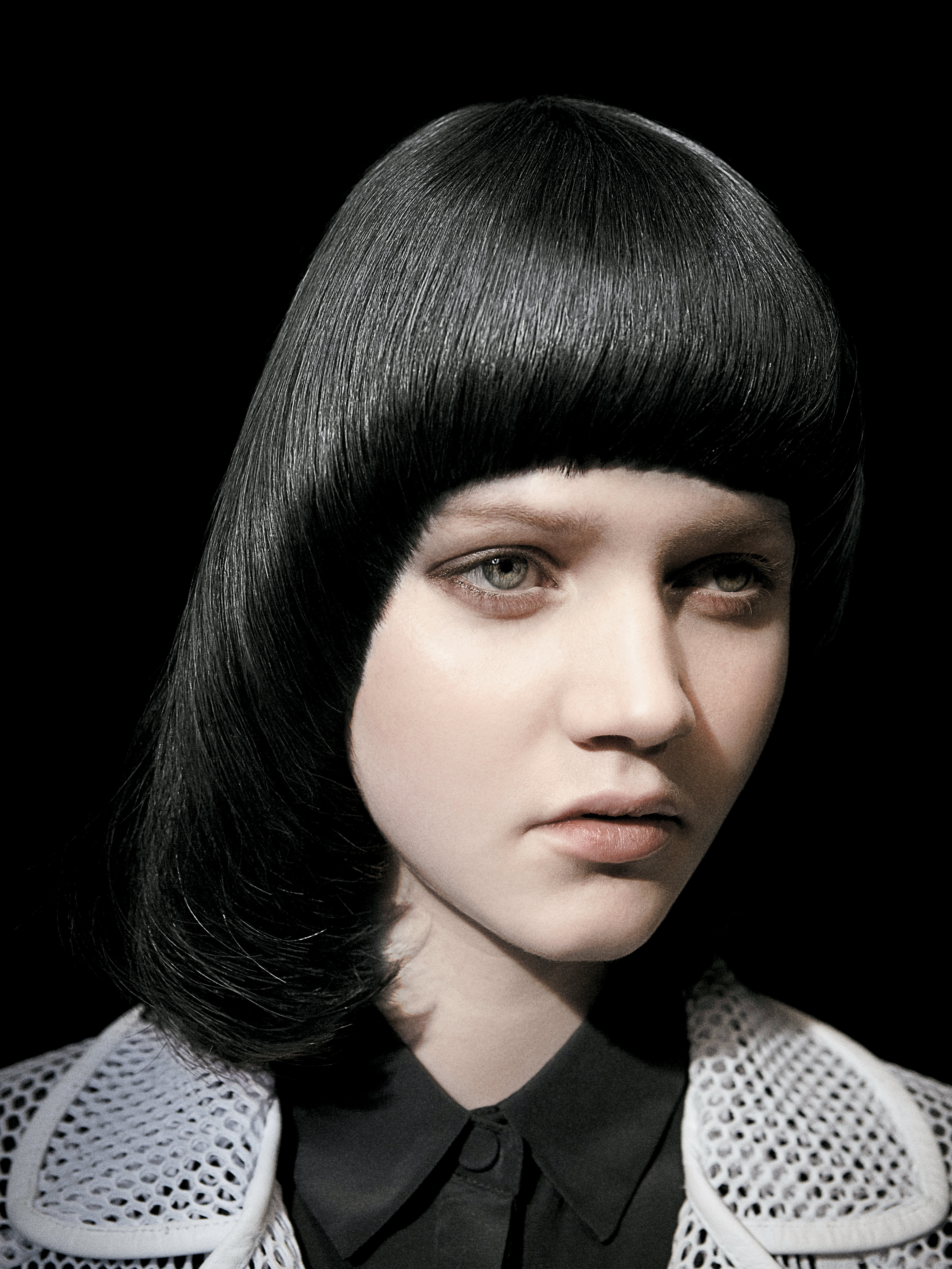 This bowl cut was inspired by '70s punk rockers, The Ramones.