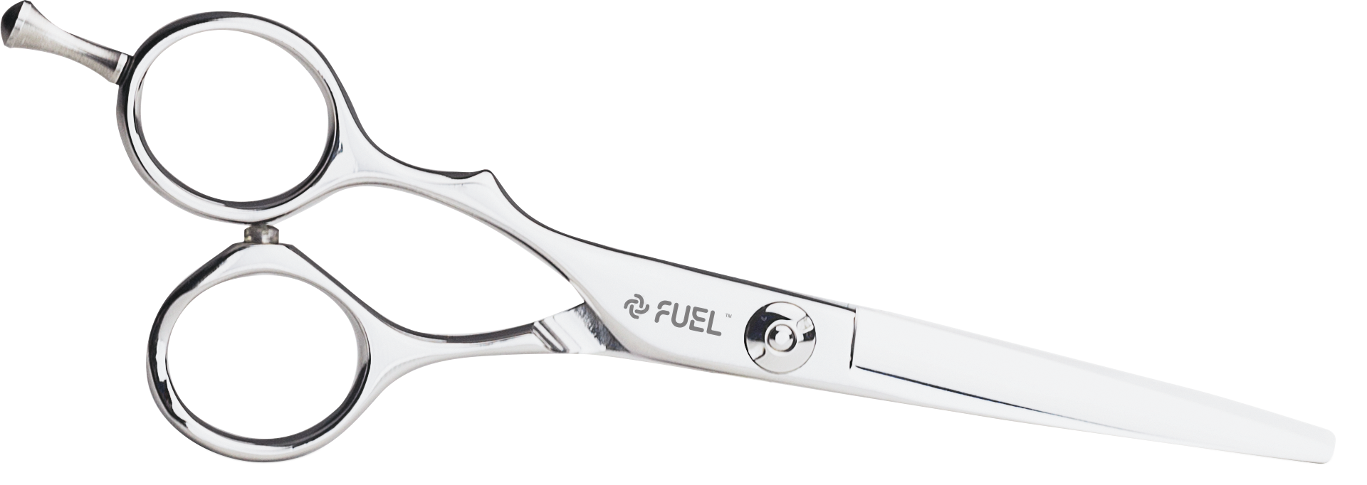 "FUEL Lefty Shears are made for left- handed stylists and ensure blade stability to avoid the ""push- away"" effect. Cutting edges are finished with a clamshell blade that slides gently through the hair, offering comfort and precision."