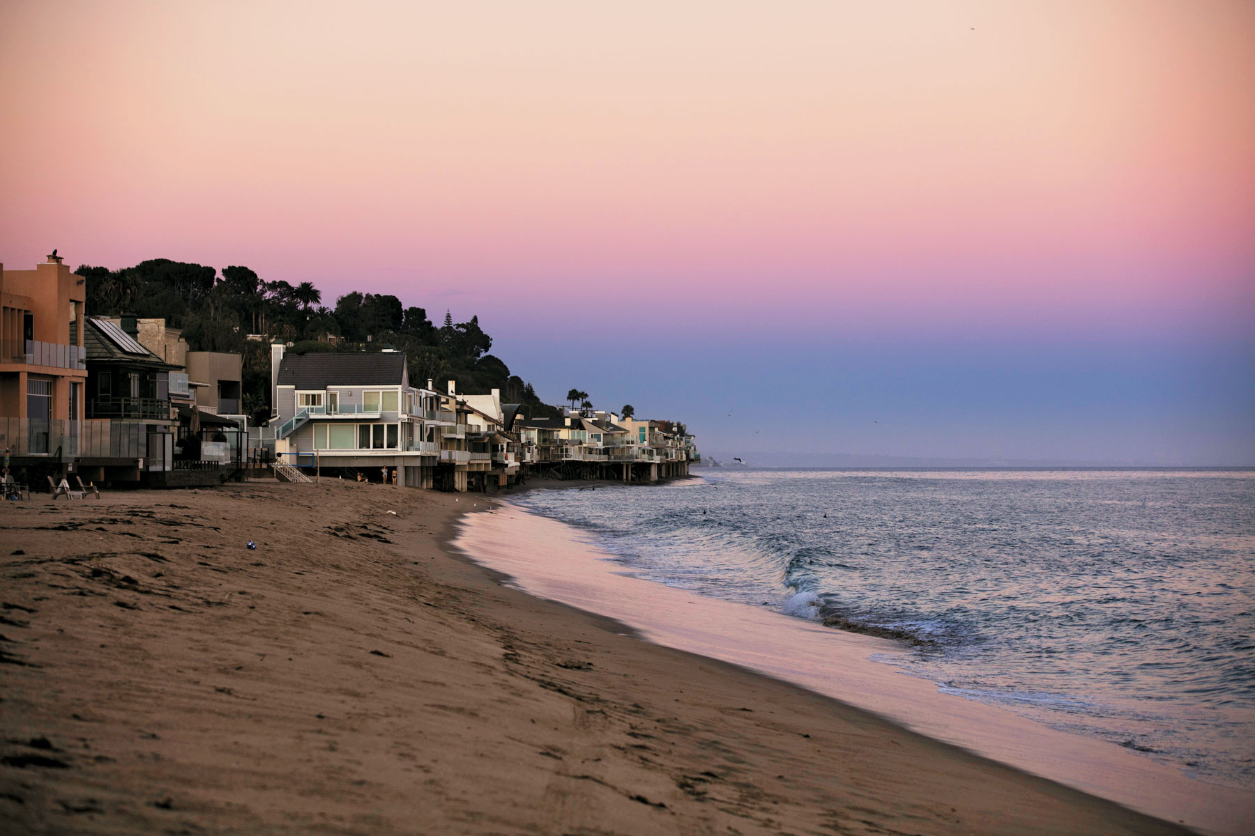 The light in Malibu at the golden hour—that's what photographers call the hour before sunset when daylight is redder and softer than at any other time.