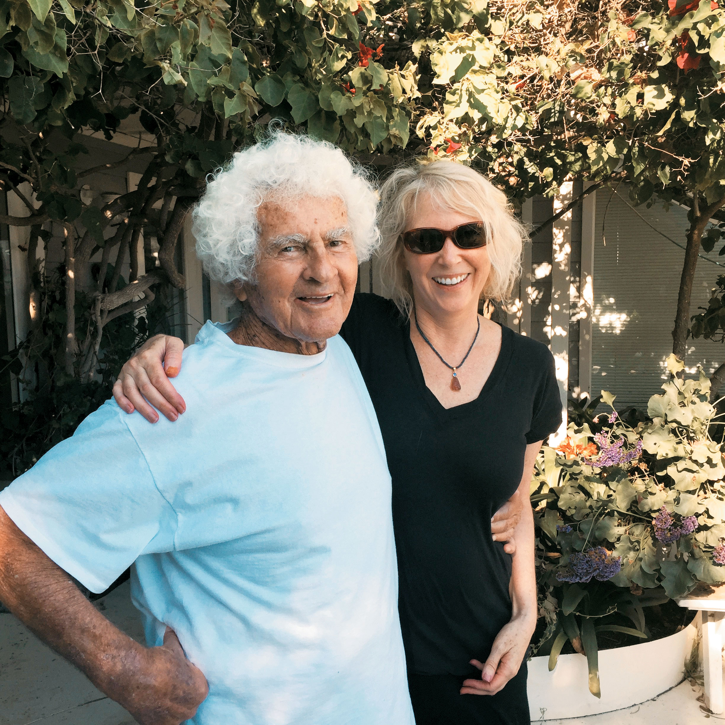 Marie Ferro with good friend Art Janov at his Malibu beach house.