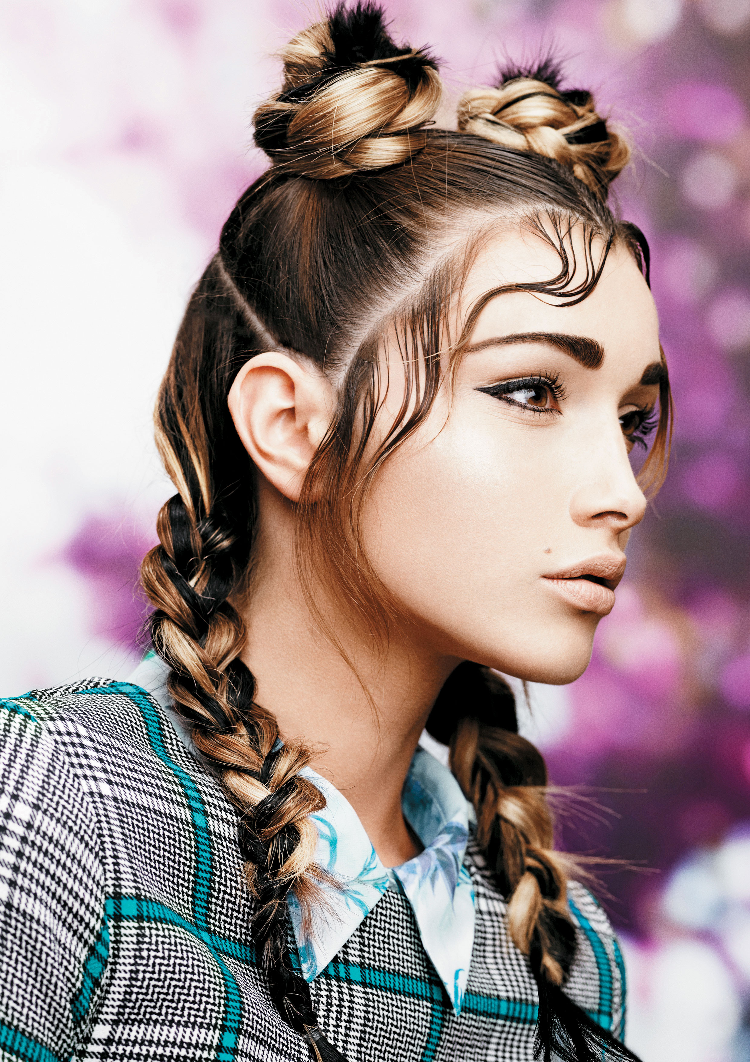 Cornrows, braids and plaits were all over the runways during Spring Fashion Week, but Masci took that trend one step further by knotting the hair. Session stylist Kevin Murphy was so impressed that he asked to borrow her technique and used it on Australian model Ashley Hart the next day.