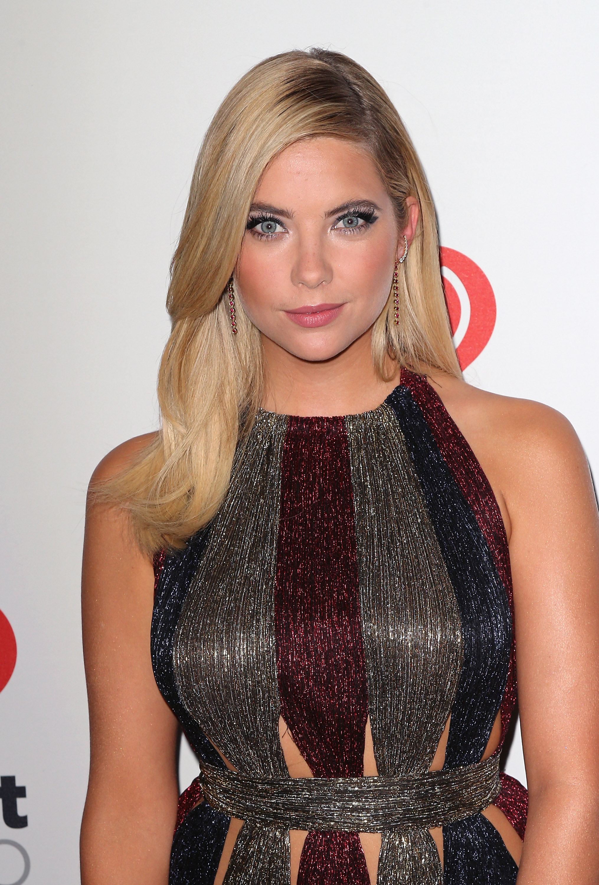 Ashley Benson presented at the iHeart Radio Music Festival rocking a sleek do styled by Bridget Brager using Matrix Style Link products.  Photo Credit: David Livingston