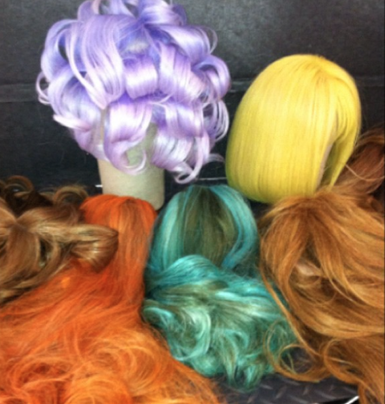 I stole this colorful photo while prepping wigs for an Italian Vogue shoot. The hair team, lead by Oribe, was inspired by the vibrant colors of spring.