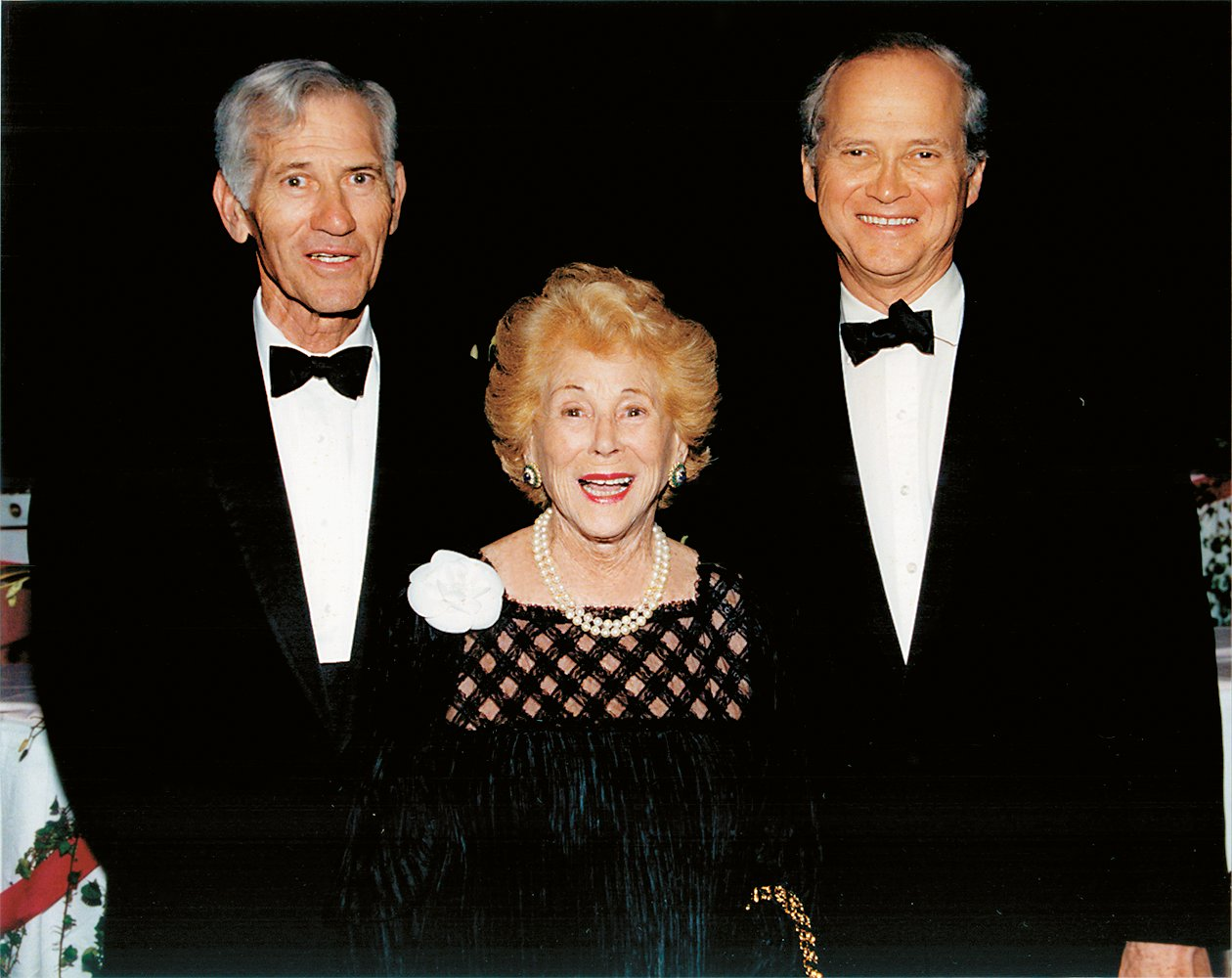 Joan with sons Richard (left) and Bruce (right), both of whom held executive positions in Clairol.