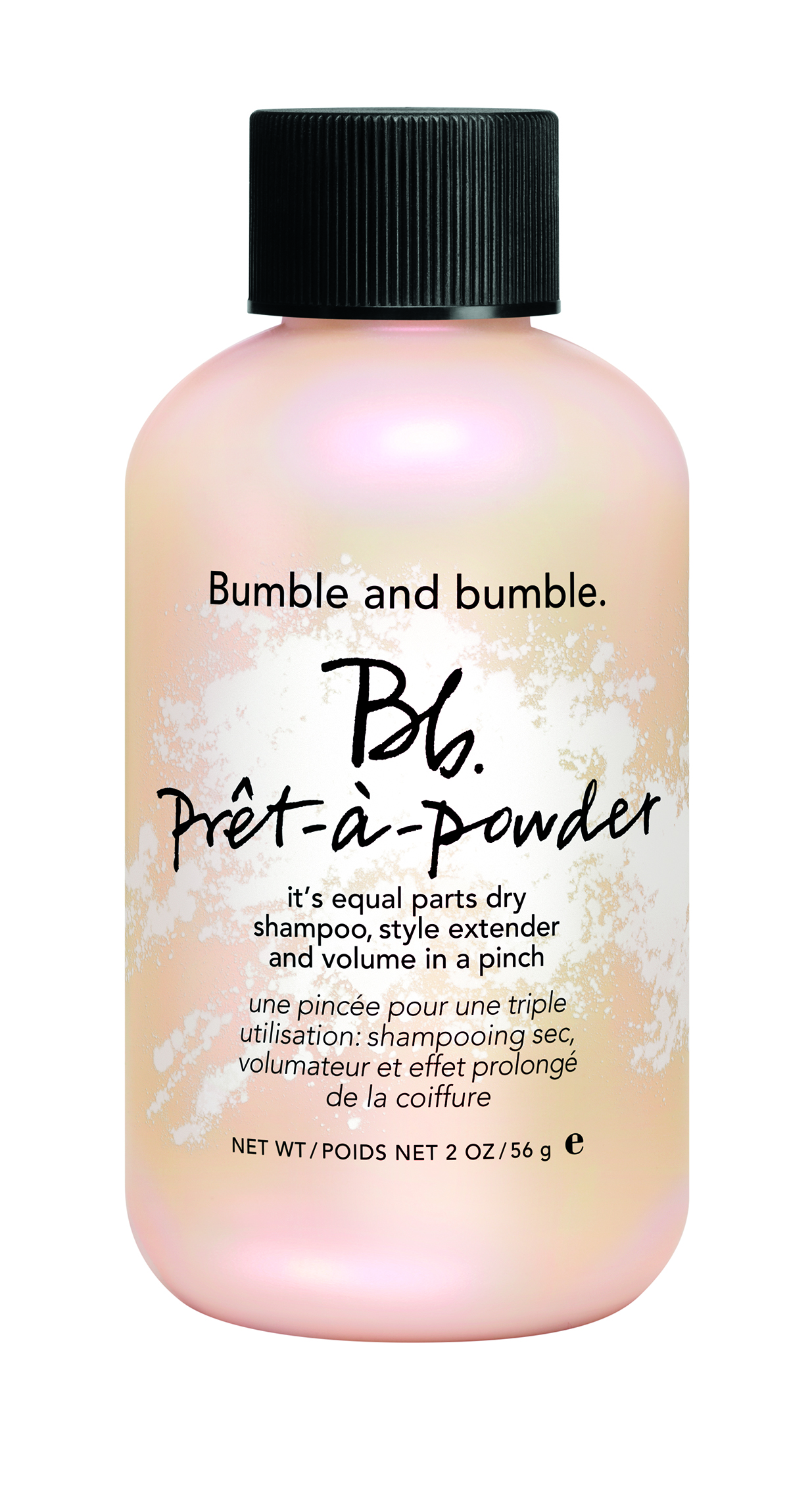/Bumble and bumble  Prêt-à Powder is a unique dry shampoo, style extender and volumizer all-in-one. It creates instant lift at the roots and extends the life of a blow dry.